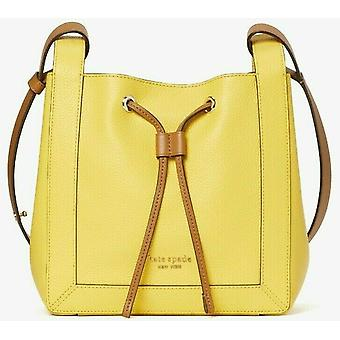 Kate Spade Grab Small Bucket Bag Yellow Leather PXR00420