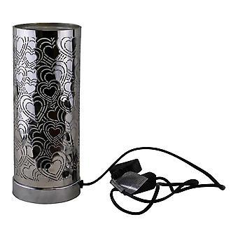 Lámpara LED que cambia el color del diseño del corazón y difusor de aroma en plata