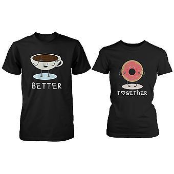 Niedliche passende paar Shirts - Kaffee- und Donut