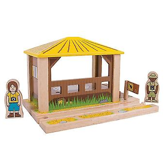 Toy trains train sets bigjigs rail safari outpost - other major wooden rail brands are compatible