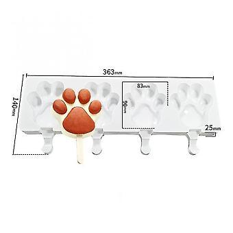 Craft molds 8/4/1 hole silicone ice cube mold diy dessert ice cream mold bear paw shape