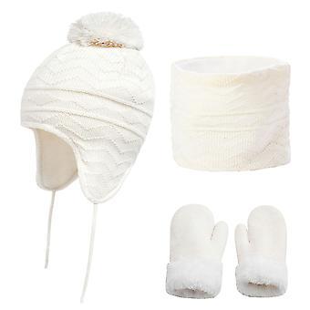 Kids Hats Winter Three-piece Suit