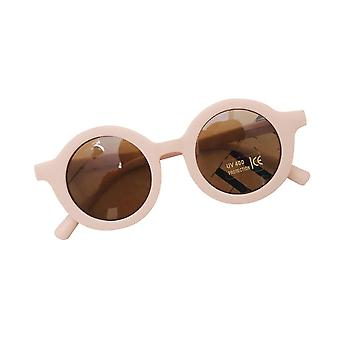 Gafas de sol de color sólido estilo retro para niños (Crema)