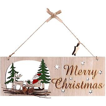 Christmas Decoration Wooden Sign With Merry Christmas Inscription Wooden Angel Christmas Tree For Indoor And Outdoor Decoration