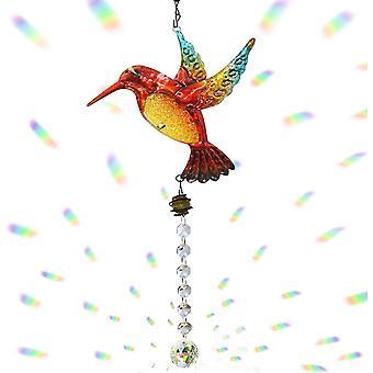 Kristall Sonnenfänger Kolibri Anhänger Hängender Kronleuchter Regenbogen Prisma Hersteller Fenster Ornament Sonnenfänger Haus Garten Dekoration C