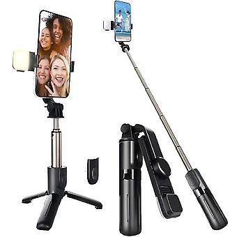 Selfie Stick -kolmijalka langattomalla kaukosäätimellä kompakti ja kevyt