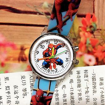 子供たちは光スパイダーマン発光時計時計を点滅