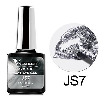 Venalisa1pcs 7.5ml Spar Cst Eye Gel Nail Spar Cat Eye Gel Coloré Aimant Poudre Colle