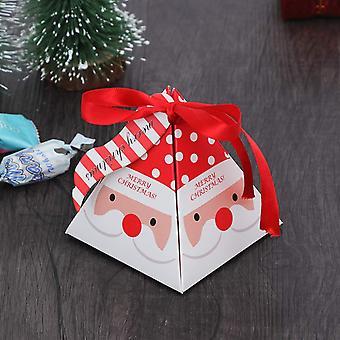 50pcs Caixas de Doces de Natal Caixa de Presente Coloridas Assar Pequeno Embrulho