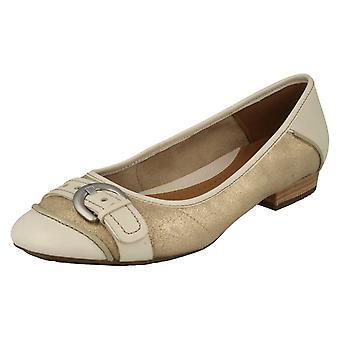 Dames Clarks Casual riem Detail Ballerina platte Henderson ijs