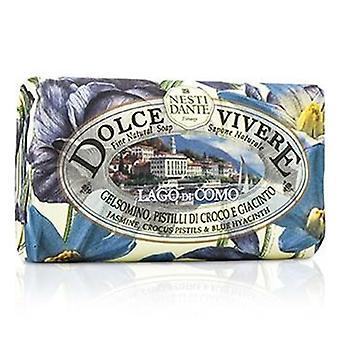ドルチェ Vivere 罰金天然石鹸 - コモ - ジャスミンのクロッカス雌しべと青いヒヤシンス - 250 g/8.8 オンス
