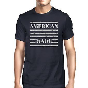 Americana fez Mens Marinha camiseta de manga curta para quatro de julho
