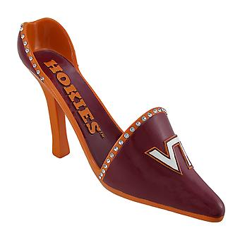 NCAA Virginia Tech Hokies alto talón zapatos botellero