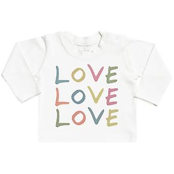 Spoilt Rotten LOVE LOVE LOVE Long Sleeve Baby T-Shirt Top