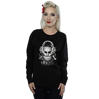 Suicide Squad Women's Joker Black And White Smile Sweatshirt