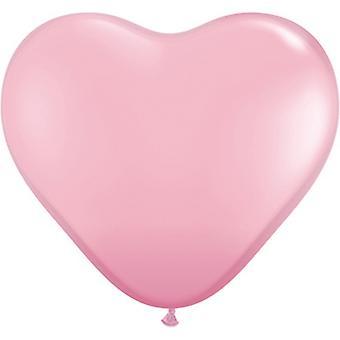 Qualatex 6 Inch hjärtformade Latex ballonger