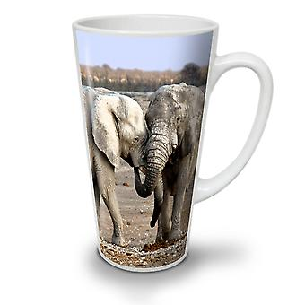 Elephant Love Wild NEW White Tea Coffee Ceramic Latte Mug 12 oz | Wellcoda