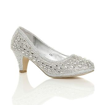 Buty damskie Ajvani środku pięty platformy diamante wieczorowe ślubne Ślub studniówkę sąd pompy