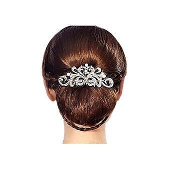 Accessoire van het huwelijk in parels en kristallen witte haren kammen