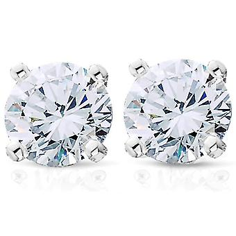 3/4ct Diamond Studs Earrings Platinum