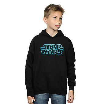 Star Wars Boys Neon Sign Logo Hoodie