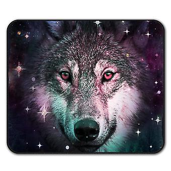 Wolf Space Cosmos Animal  Non-Slip Mouse Mat Pad 24cm x 20cm | Wellcoda