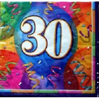 30e anniversaire Brilliant Party Napkins ( 3 seulement laissé en stock )