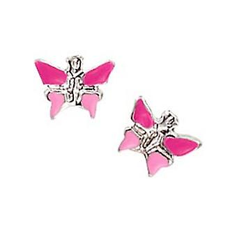 Scout Kinder Ohrringe Ohrstecker Silber Schmetterling pink Mädchen 262127100