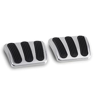 Lokar BAG-6132 Billet Aluminum Curved Brake/Clutch Pad with Rubber Insert - Pair