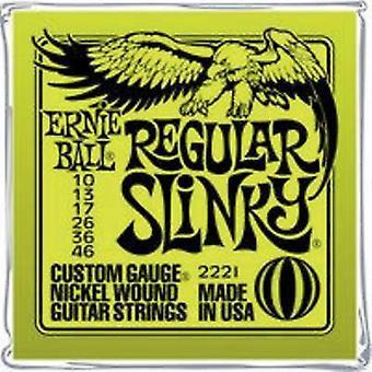 Ernie Ball Guitar steel string EB2221 Regular Slinky 010-046