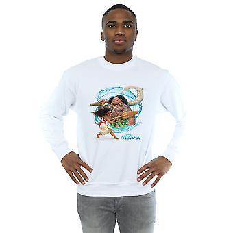 Disney Men's Moana And Maui Wave Sweatshirt