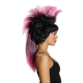 IRO peruukki musta / vaaleanpunainen peruukki
