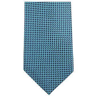 Knightsbridge Neckwear petit motif Tie - bleu/noir