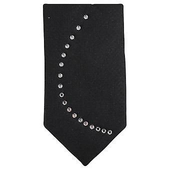Knightsbridge kaulavaatteita Diamante aalto kuvio Tie - musta/hopea