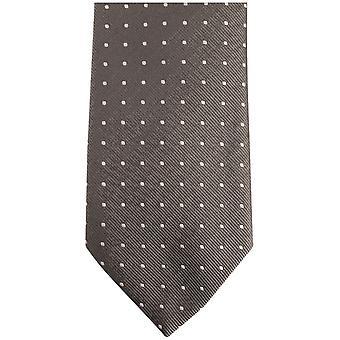 Bassin ja ruskea keskipitkän paikalla silkki solmio - harmaa/musta