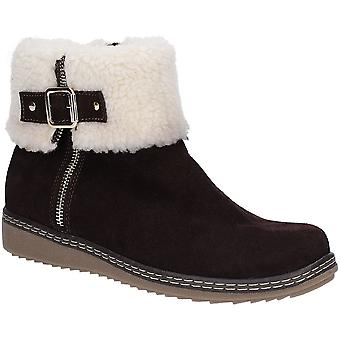 Hush Puppies Womens Maltese Collar Warm Faux Fur Ankle Boots