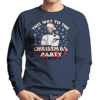 James Bond This Way To The Christmas Party Men's Sweatshirt