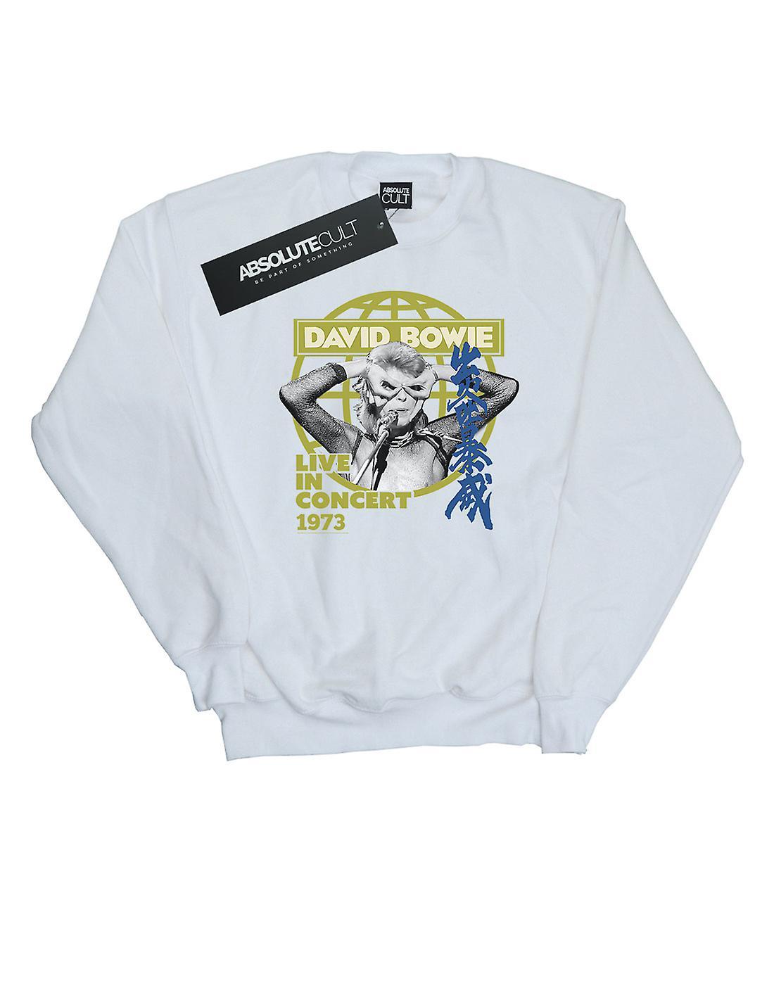 David Bowie Women's Live In Concert Sweatshirt