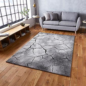 Woodland Think 21007 Grey  Rectangle Rugs Modern Rugs