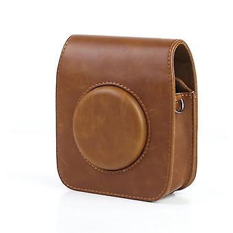 Camera bag in PU leather for Fujifilm Instax SQ10-Brown