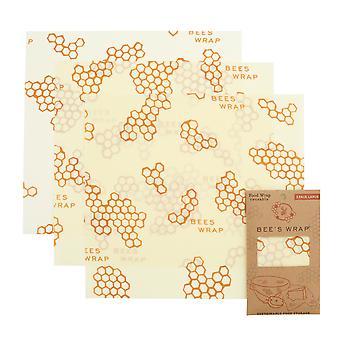 Sada 3 veľkých včelí vosk zábaly, Honeycomb