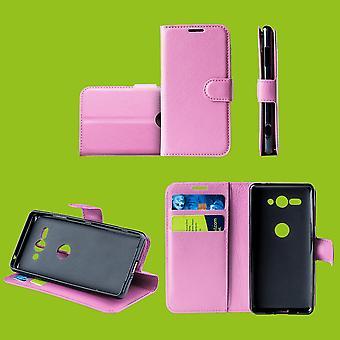Für Samsung Galaxy S10 G973F 6.1 Zoll Tasche Wallet Kunst-Leder Rosa Schutz Hülle Case Cover Etui Neu Zubehör