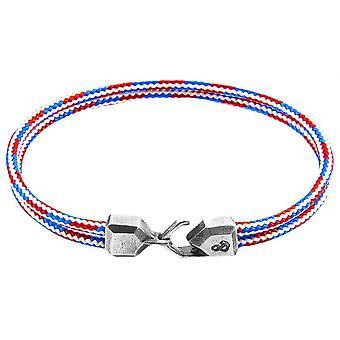 Horgony és a legénység Cromer Rope karkötő-piros/kék/fehér