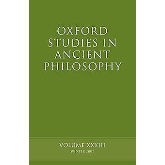 Études d'Oxford dans la philosophie antique, Volume 33 par Sedley & David