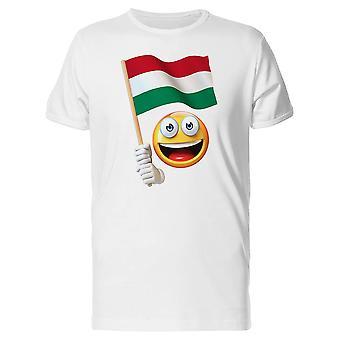 Glücklich Emoji mit ungarischen Flagge T-Shirt Herren-Bild von Shutterstock