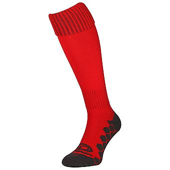 Optimum Classico Football Soccer Rugby Sport Socks Red