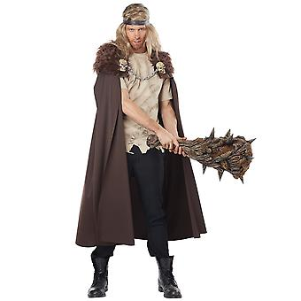 Warlord Viking medieval Warrior renaștere Brown Men costum Cape