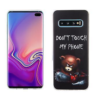 S10 de Samsung Galaxy plus rey tienda móvil-oso caso protector funda parachoques no toques mi teléfono