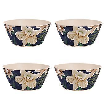 Navigate Java Set of 4 Bamboo Bowls