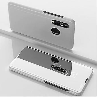 För Samsung Galaxy A20e rensa Visa spegel Smartcover silver täcka fall fall fall fall nytt ärende vakna upp funktion